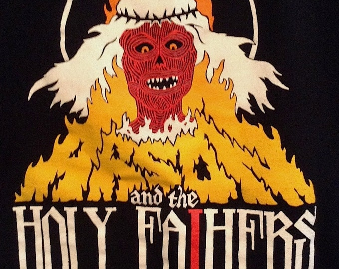 ARSON and the HOLY FATHERS fake metal band tee
