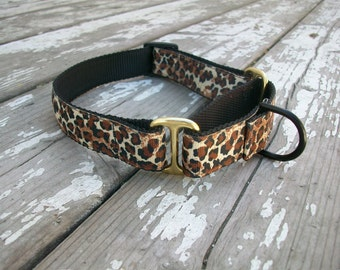 """Leopard Martingale Collar / 1"""" - 1.5"""" and 2"""" Wide Martingale Collar"""
