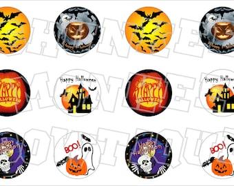 Happy Halloween mix themed bottlecap image sheet