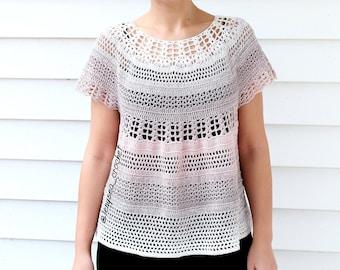 cd3646cf43 Arielle Top | Crochet Top | Crochet Blouse | Crochet Lace Top