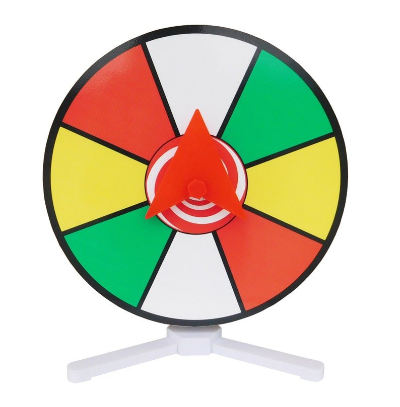 """Prize Wheel 12"""" Color Dry Erase Face Spinner for Table Top"""