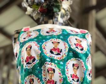 Mexican artist inspired apron, Blue  Apron, Hostess apron