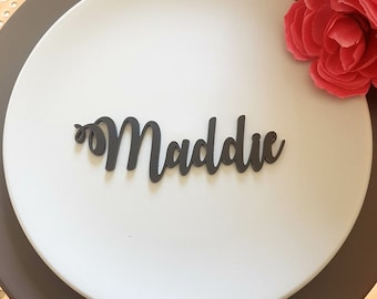 Set of 10 ACRYLIC Names Birthday Dinner Party Place Cards Names Favours Events Corporate Acrylic Mirror pn3