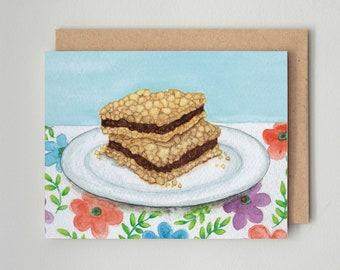 Date Squares / Notecard / Blank Inside