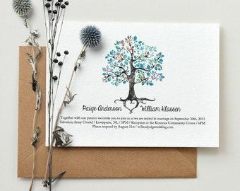 Winter Solstice Wedding Invitation / DIY Printable PDF Template / Digital Download