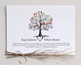 The Bohemian Tree / Wedding Invitation/ DIY Printable PDF Template / Digital Download