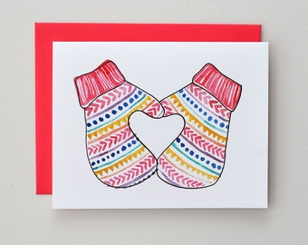 A Warm Heart / Notecard / Blank Inside