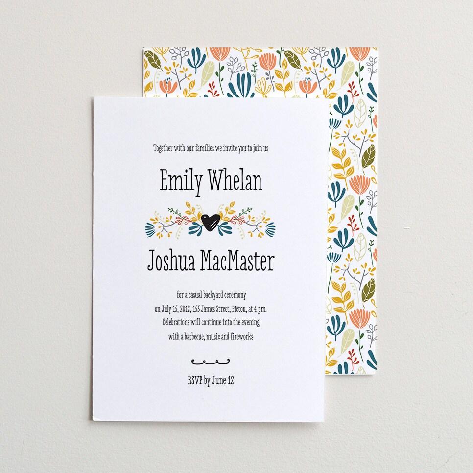 Wedding Invitation Packages Canada: The Forest Folk / PDF Wedding Invitation Template