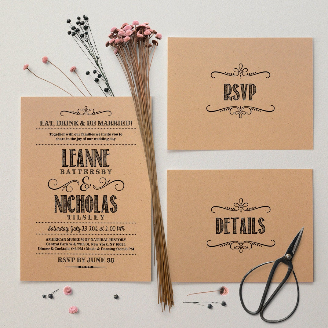 Wedding Invitation Packages Canada