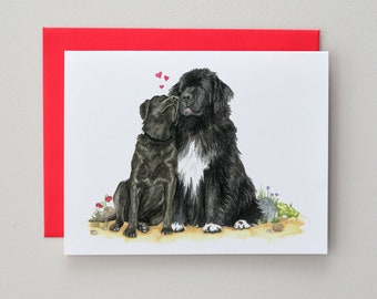 Newfoundland & Labrador / Valentine Card / Wedding Card / Blank Inside