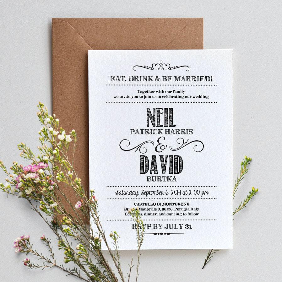 Diy Wedding Invitations Canada: Handlettered Love / DIY Wedding Invitation Template