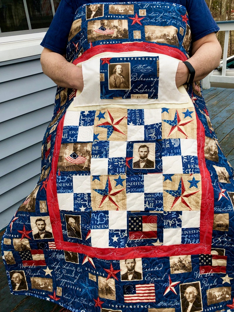 Liberty Lovie Lap Quilt with Pockets