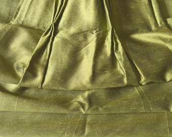 "Vintage Curtains, Green Mad Men, Two Pairs Available, Silk? 24""w. at pinch pleat top x 41""w. at bottom x 62.5"" l."
