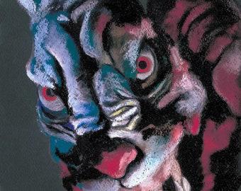 Twilight Zone The Movie - Monster Rabbit.  Art Print