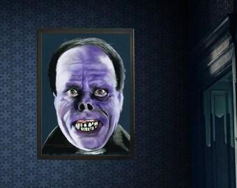 PHANTOM - Lon Chaney - Phantom of the Opera -  Art Horror Print.  Unframed, Wall Art, Chantal Handley, Horror Movie, Halloween