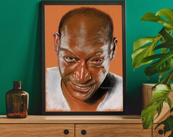 CANDYMAN - Tony Todd  -  Fine Art Print  Unframed, Wall Art, Chantal Handley, Horror Movie, Personalized Gift, Halloween
