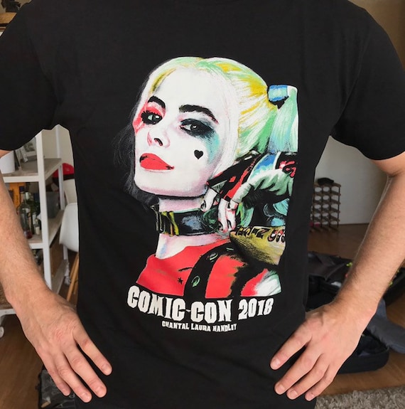 Halloween Art Harley Quinn Halloween Halloween Horror SUICIDE SQUAD Comic Con 2018 T-Shirts Horror Art Chantal Handley