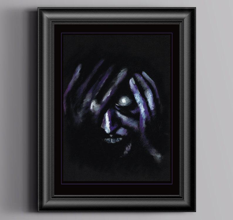 HOST Seance Demon    Art Print  Unframed Wall Art Chantal image 0