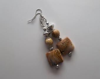 Jasper Long Dangle Drop Earrings (558)