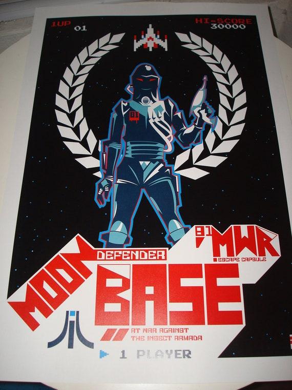 MWR Atari Galaga poster print