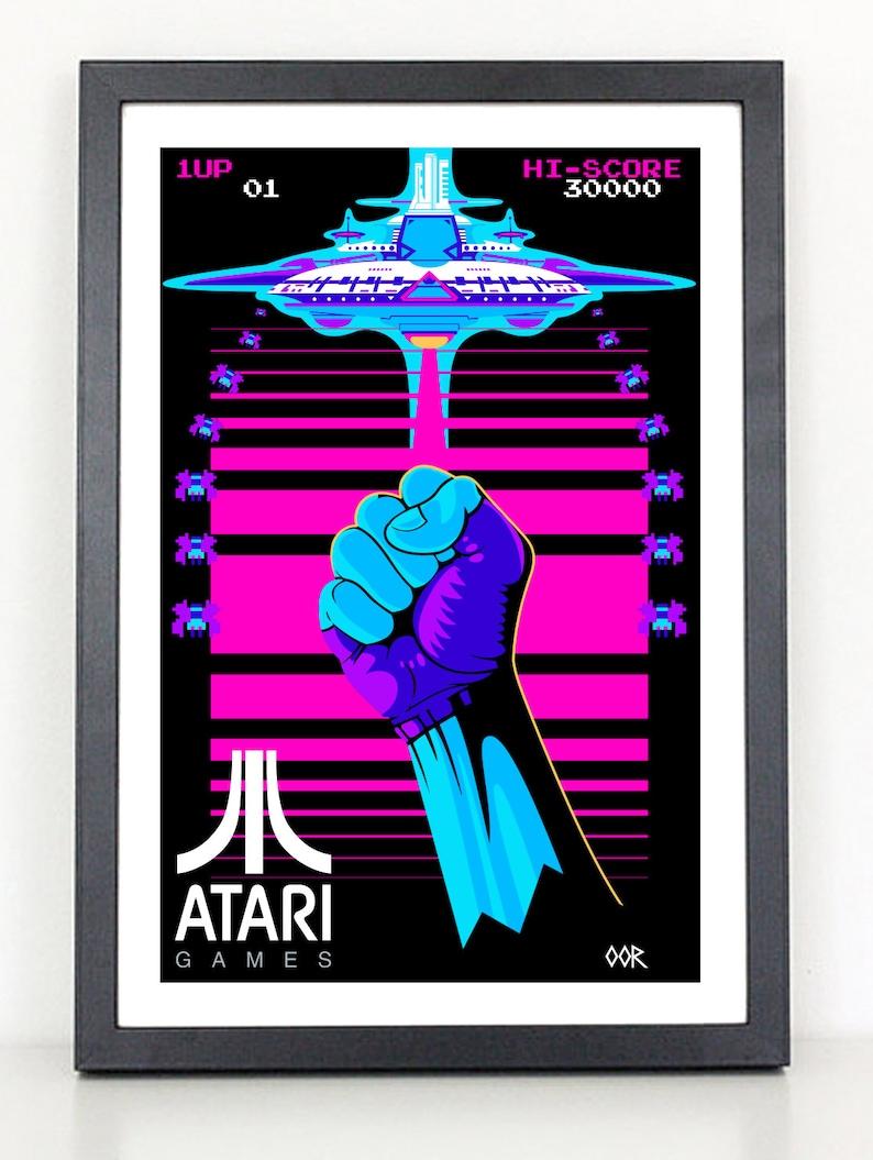 Powstanie Z Atari Gier Wideo Plakat