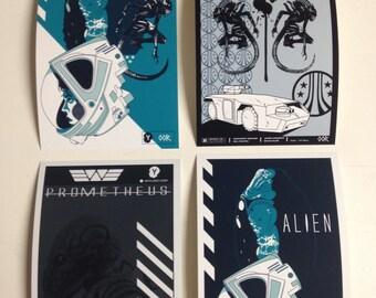 Alien movie Sticker 4 pack