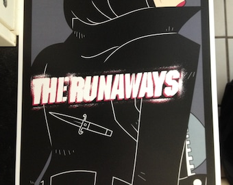 The Runaways band poster print