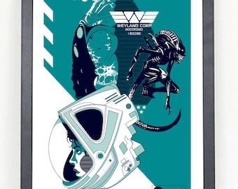 Alien movie poster print