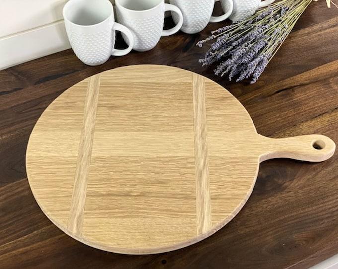 Large circular bread board, Wood cheese board, Kitchen decor display board, Vintage bread board design