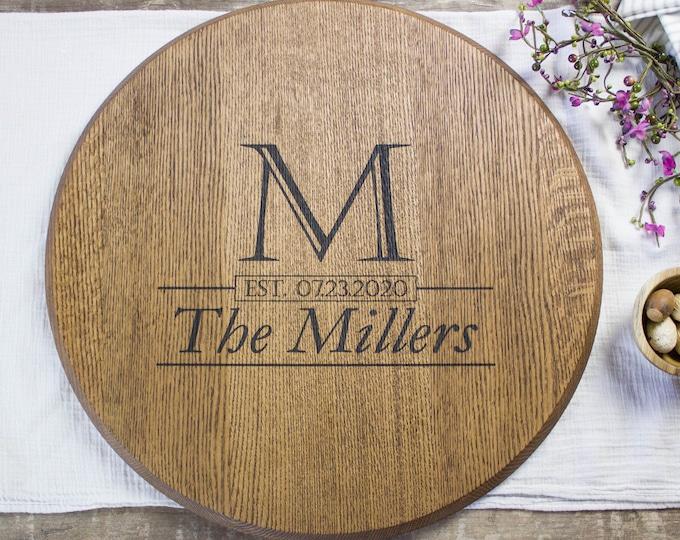 Personalized bourbon barrel wedding guest book alternative