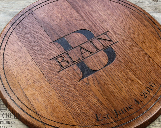 wedding guest book bourbon barrel head personalized gift wedding gift anniversary gift wedding sign wall decor housewarming gift lazy susan