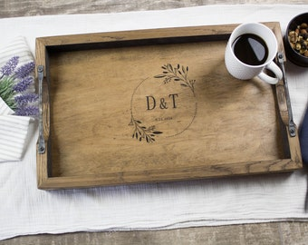 Mothers Day gift Serving tray with handles for Breakfast in bed, Mother Day gift ideas