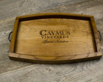 Wine Crate & Barrel Stave Serving Tray