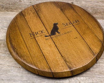 Personalized Custom Engraved Wine Barrel Lazy Susan - Personalized Gift, Dog Lover Gift, Wedding Gift, Anniversary Gift, Christmas Gift
