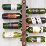 Wood Wine Rack, Wine Rack Wall Mounted, Unique Wedding Gift, 5th Anniversary Gift for him, 5th Anniversary gift, Inexpensive wedding gift