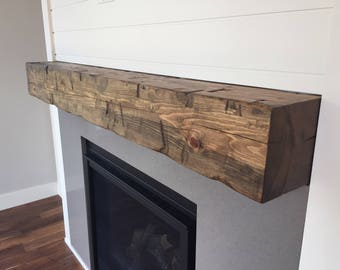 Barn Beam Mantel 6 X 8 Wooden Mantel Fireplace Etsy