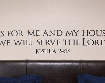 Joshua 24 Bible Verse - Wall Decal