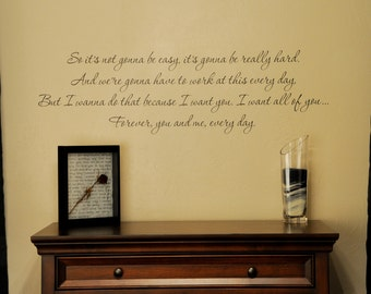 The Notebook Quote - Wall Decal
