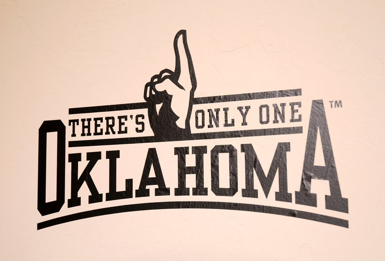 There's Only One  Wall Decal  University of Oklahoma image 0