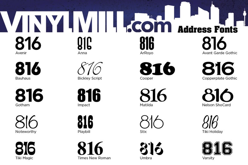 Address with Border 3 Vinyl Decal Large