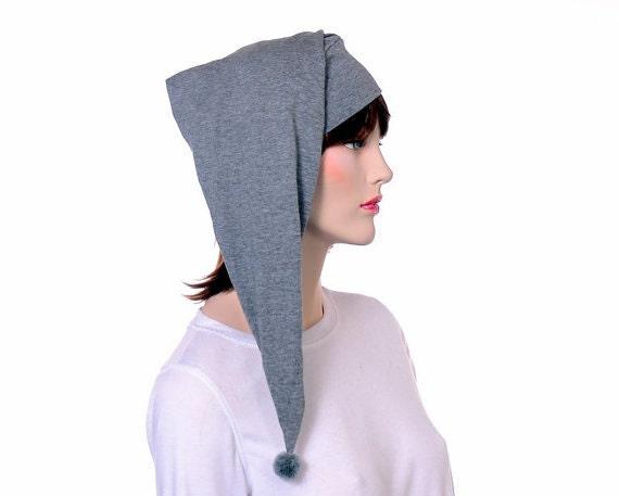 nouveau style de vie prix raisonnable design élégant Coton bonnet de nuit gris hommes adultes femmes nuit casquette Elf léger  chapeau bonnet dormir en pyjama bonnet gris poète pauvre chapeau