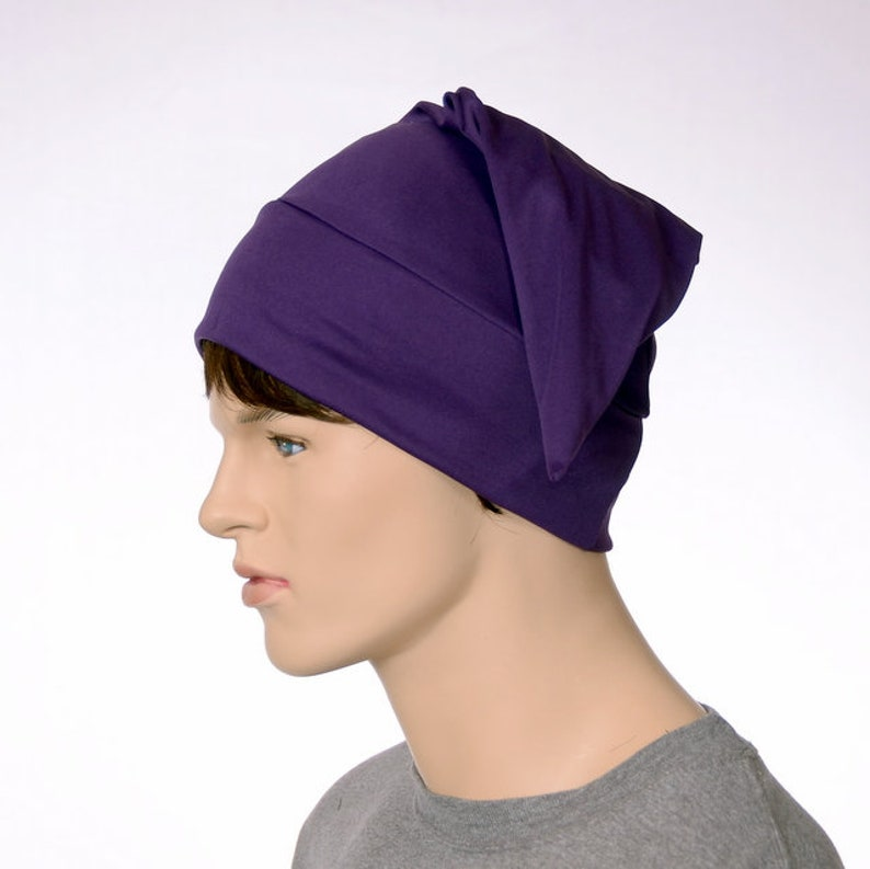 Royal Purple Sleep Nightcap Adult Jersey Knit Night Cap Elf  cefa34b21705