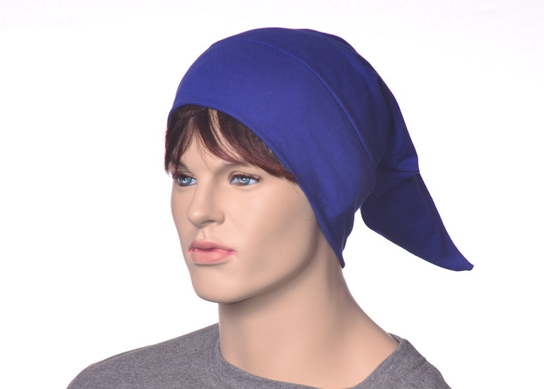 Pointed Sleep Cap Nightcap Royal Blue Sleeping Hat Victorian  1d5db456467c