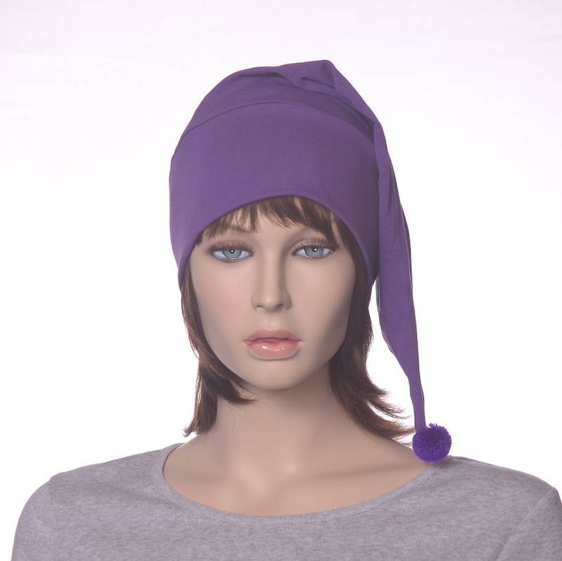 Pointed Sleep Cap Nightcap Orchid Purple Sleeping Hat  e78b4d35c0e6