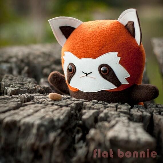 Red Panda Plush Panda Stuffed Animal Handmade Stuffed Panda Etsy