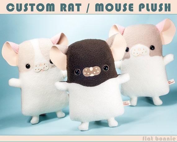Animal en peluche Rat personnalisé, peluche souris personnalisé, souvenir Rouxel bouché jouet, poupée de jouet souris personnalisé, peluche animal clone, Bonnie plat