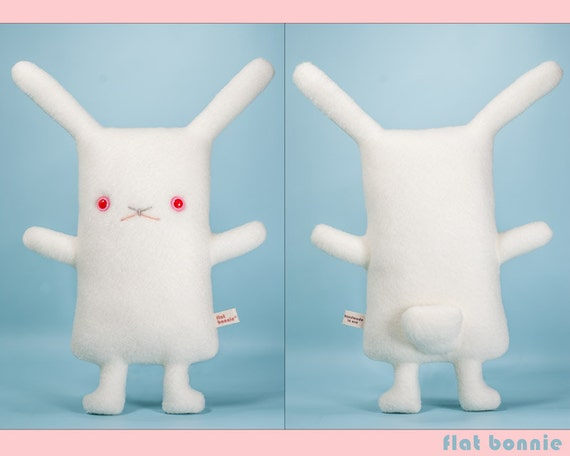 Red Eye White Rabbit Stuffed Animal Easter Bunny Plush Toy Etsy