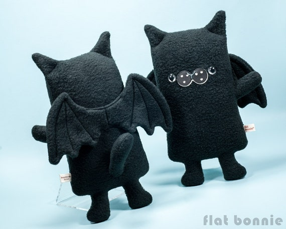 Cat Bat Plush Bat Cat Stuffed Animal Kawaii Batcat Wings Etsy