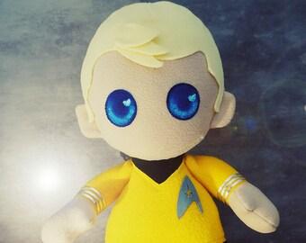 Captain James T. Kirk - Star Trek - Large Chibi Plush Doll