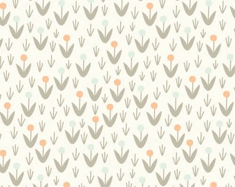 Morning Song - Dotty Blooms Ivory by Elizabeth Olwen from Cloud 9 Fabrics
